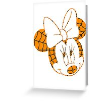 A Haunted Mouse: Minnie Mouse  Greeting Card