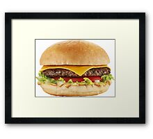AWESOME COOL HAMBURGER Framed Print