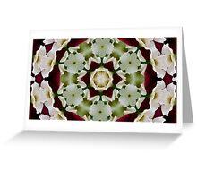 Floral kaleidoscope Greeting Card