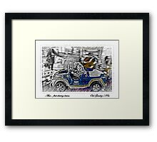 Alex.. her first driving lesson! Framed Print