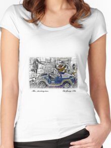 Alex.. her first driving lesson! Women's Fitted Scoop T-Shirt