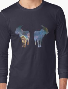 Nebula Celestial Goats shirt Long Sleeve T-Shirt