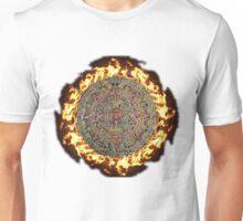 Fiery mayan calendar Unisex T-Shirt