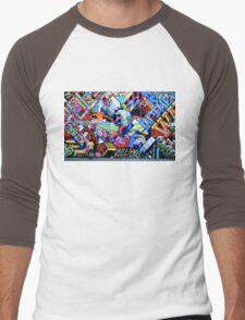 Cartoon Chaos Men's Baseball ¾ T-Shirt