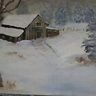 Old Barn in the snow by rreily
