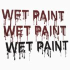 Wet paint dripping by queensoft