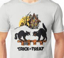 Vintage Halloween Black Cats Trick or Treat  Unisex T-Shirt