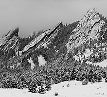 The Flatirons in Winter Dress by Gregory J Summers