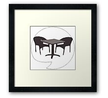 Heavy Metal Chairs Framed Print