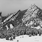 The Flatirons In Winter Dress by Greg Summers