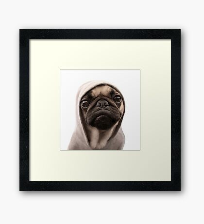 COOL PUG DOG - HIP HOP STYLE Framed Print