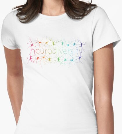 Neuron Diversity - Alternative Rainbow Womens Fitted T-Shirt