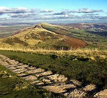 The Great Ridge Derbyshire by Darren Burroughs
