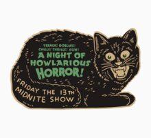 Vintage Halloween Black Cat One Piece - Short Sleeve