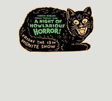 Vintage Halloween Black Cat Unisex T-Shirt