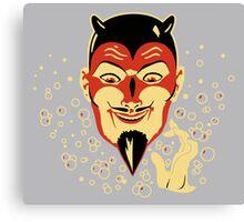 Vintage Halloween Devil Head Canvas Print