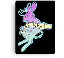 Believe in the Jackalope Canvas Print