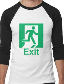 Exit sign Men's Baseball ¾ T-Shirt