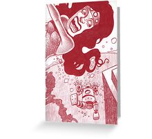 And so he fell... Greeting Card