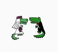 Coolf Funky Bride and Groom Alligator Wedding Art Unisex T-Shirt