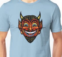 Vintage Halloween Red Devil Head  Unisex T-Shirt