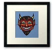 Vintage Halloween Red Devil Head  Framed Print