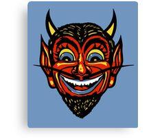 Vintage Halloween Red Devil Head  Canvas Print