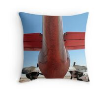 Business End of Tanker 55 Throw Pillow