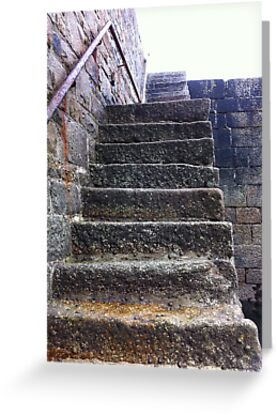 Cornwall - Porthleven Harbour Steps - UK by Ken1