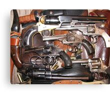 Antique Guns Collection photography Canvas Print