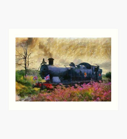 Steam Train, Shepton Mallet, Somerset, England, UK Art Print