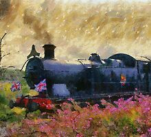 Steam Train, Shepton Mallet, Somerset, England, UK by buttonpresser