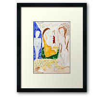 Scribbles and tests Framed Print