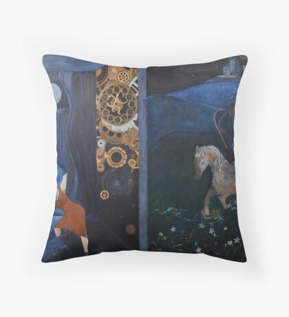 Artnap IV: Selenomancy/ Selenography Throw Pillow