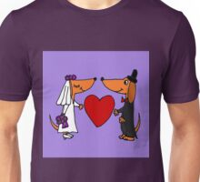 Awesome Bride and Groom Dachshund Dogs Unisex T-Shirt