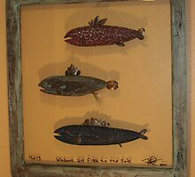"Windows are fish tothe sole 4 of 13 30"" x 32"" (SOLD) by Fred Weiler"