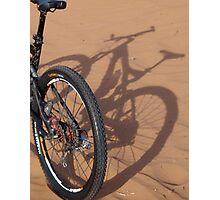Shadow bike Photographic Print