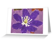 Impressionist Purple Lily Flower Greeting Card
