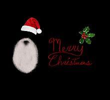 Santa's Beard - Christmas Card by Scott Mitchell