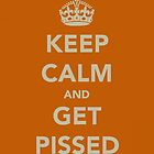 Keep Calm and Get Pissed by Robert Steadman
