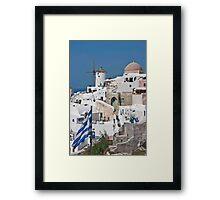 Greek colors Framed Print