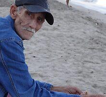 Old man at the sea by Bernhard Matejka