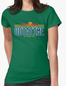 Back to the Future II Licence Plate Outatime Womens Fitted T-Shirt