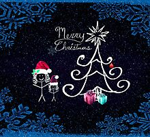 Little Girls - Christmas Card by Scott Mitchell