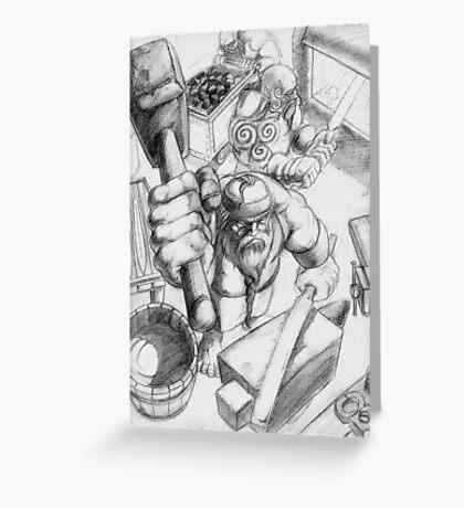 Dwarf Smithy Greeting Card