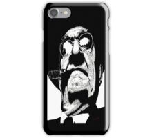 THE BOSS white on black  iPhone Case/Skin