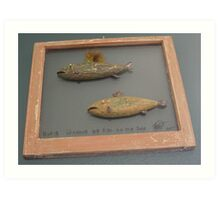 """Windows are fish to the sole 8 of 13. 28"""" x 24"""" (SOLD) Art Print"""