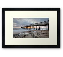 Fishing Pier Sunrise Framed Print