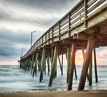 Fishing Pier Sunrise by Joshua McDonough Photography