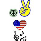 Peace Love Music by eggnog